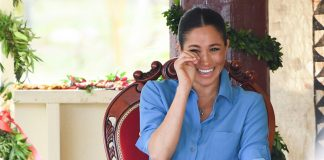 See why Meghan Markle cried with laughter during visit to Tonga Photo C GETTY