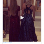 Sharing a sneaky Instagram ahead of the first day evening party Chloe Delevingne revealed that she was wearing Alice Temperley Photo C INSTAGRAM
