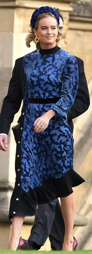 Cressida Bonas dazzled in a vibrant blue outfit Image GETTY