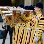 State Trumpeters from the Band of the Household Cavalry will perform a fanfare during the service Image GETTY