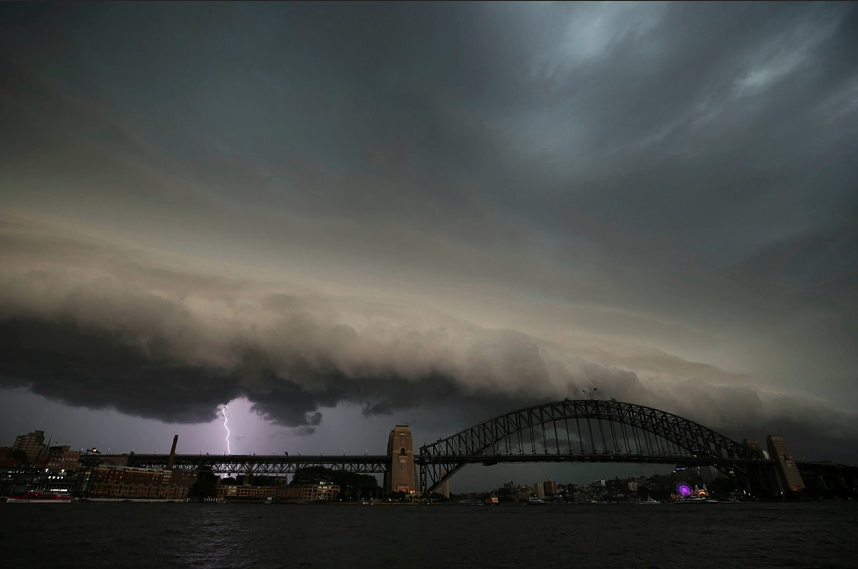 Stormy weather had threatened to rain off the Opening Ceremony yesterday Image GETTY