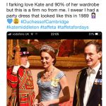 Susan Brougham did not approve of the lavish Alexander McQueen gown Image Susan Brougham Twitter