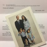 The Cambridges sent this thank you card to fans Photo C GETTY