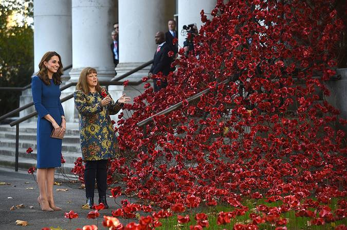 The Duchess of Cambridge has paid a very poignant visit to the Imperial War Museum in London Photo C GETTY