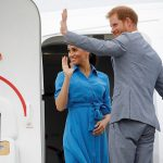 The Duke and Duchess of Sussex depart from Fuaamotu International Airport in Tonga today