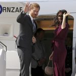 The Duke and Duchess were farewelled by officials on Sunday morning who thanked the couple for their time in Australia