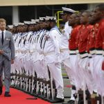 The Duke inspected the guard of honour Image PA