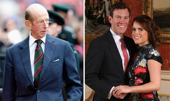 The Duke of Kent will not attend Princess Eugenie and Jack Brooksbanks evening celebration Image GETTY