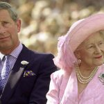 The Queen Mother and Prince Charles at her 100th birthday celebrations in 2000 Image GETTY