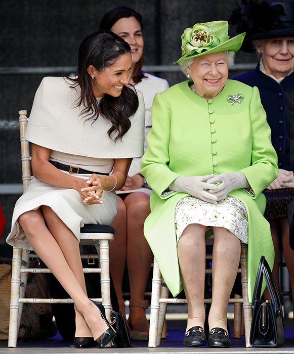The Queen and Meghan Markle seemed very comfortable together first joint visit Photo C GETTY IMAGES