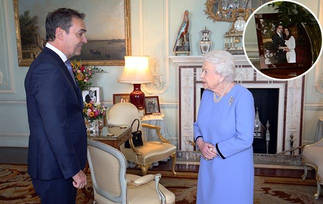 The Queen often changes her photos around Photo C GETTY