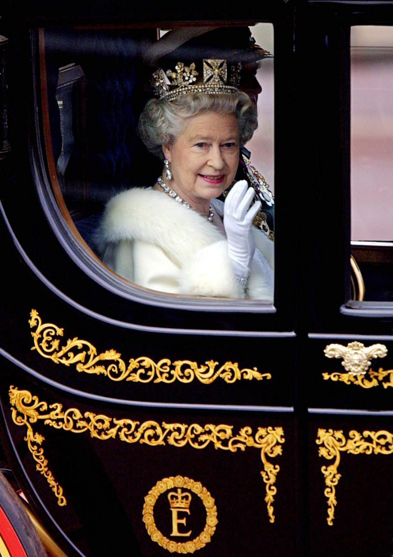The Queen is rarely spotted waving to the public without her trusty white glove Photo Getty Images