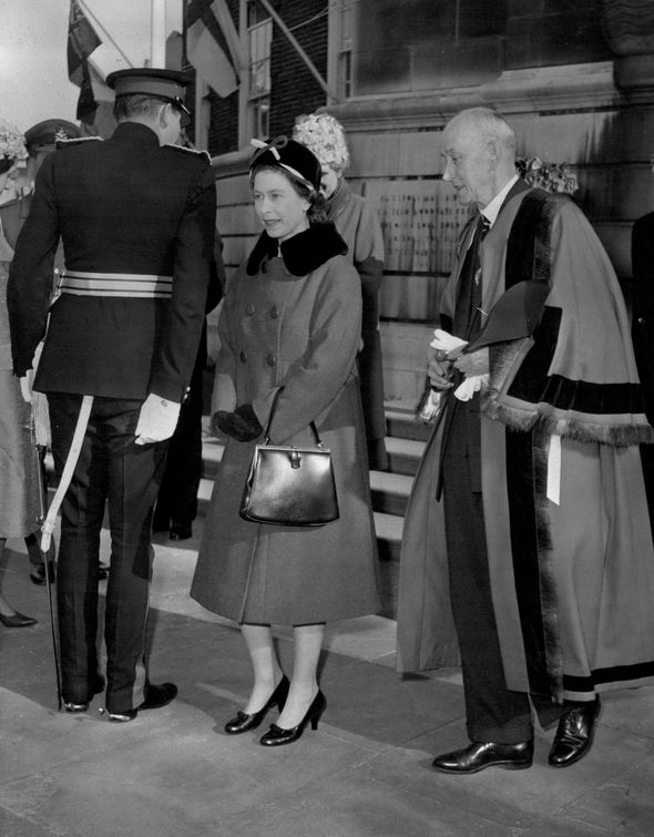 The Queen is seen with Mr Brooksbank's great uncle Lord Hamilton of Dalzell Image ALAMY