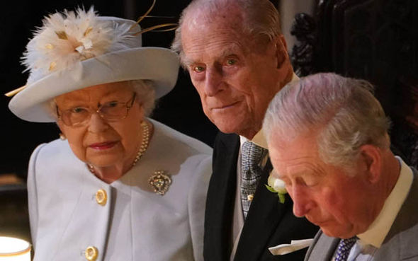 Sarah Ferguson sat directly in front of Prince Philip Image PA REUTERS