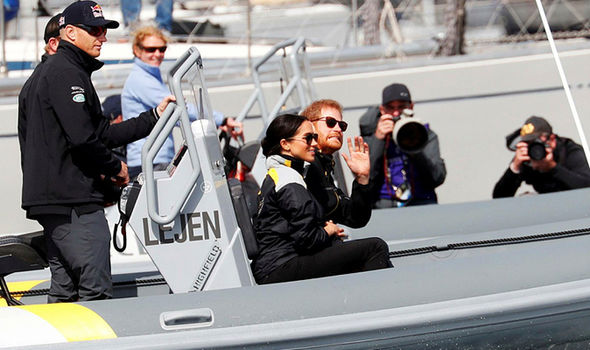 The Royal couple enjoy a thrill seeking trip on their way out to watch the sailing Image REUTERS