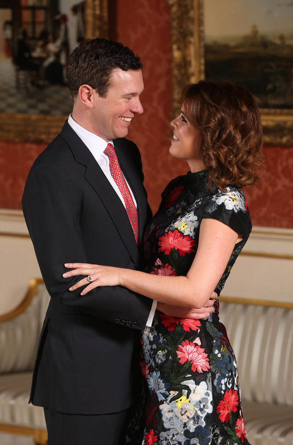 The couple announced their engagement in January Image GETTY 1