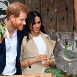 The couple had a jam packed first day of engagements which also included a visit to Taronga Zoo Photo C GETTY IMAGES