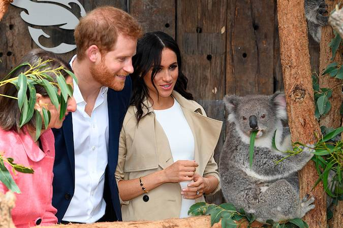 For their first engagement Meghan wore her hair in loose waves and kept her makeup very natural Photo C GETTY IMAGES
