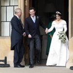 The couple looked excited as they left Windsor Castle Image PA
