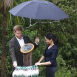 The couple unveil the Queens Commonwealth Canopy dedicating a 20 hectare area of native bush to her global campaign Photo C GETTY