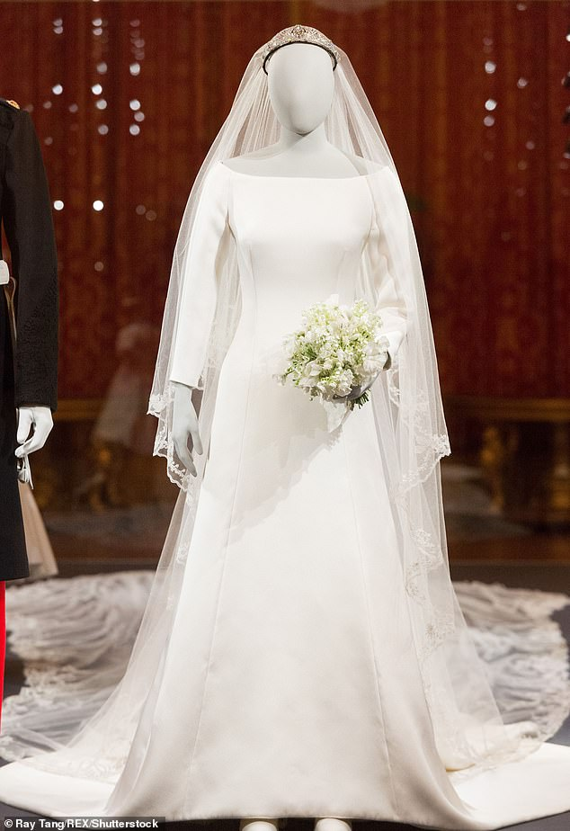 The duchess wedding gown will form the centrepiece of the exhibition which will also feature her exquisite veil and a diamond and platinum bandeau tiara lent to her by The Queen