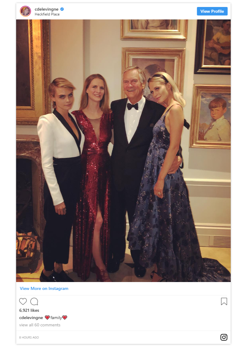 The first night evening party evidently featured a lot of chic outfit changes including Eugenie donning a blush Zac Posen gown And thanks to Chloe Delevingnes Instagram Photo C INSTAGRAM
