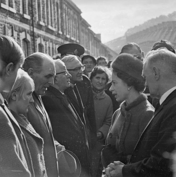 The monarch reportedly regretted not visiting Aberfan earlier Image GETTY