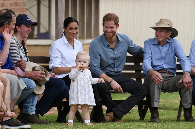 The pair cooed over little Ruby 13 months Photo C GETTY