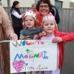 The royal couple were given a warm welcome when they visited the Maranui in Lyall Bay on Monday morning