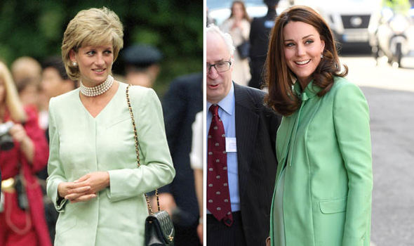 The royals have both worn matching green outfits Image GETTY