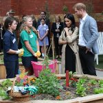 The royals learnt about the efforts the school is making to be more sustainable Poto C GETTY