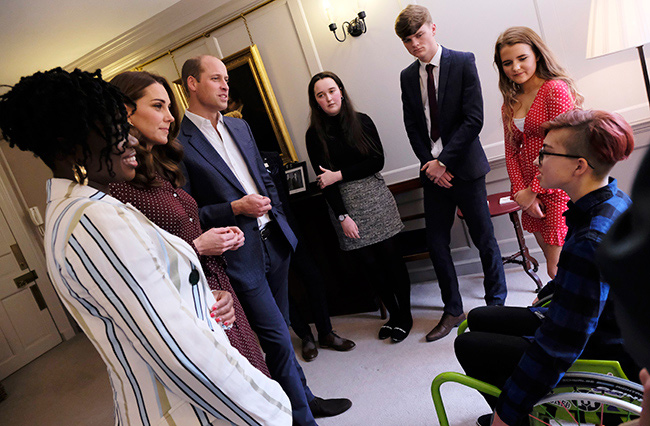 The royals spoke to finalists of this years BBC Radio Ones Teen Hero Awards Photo C GETTY