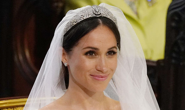 The small tiara is made of diamonds and platinum in 11 sections with interlaced ovals Image Getty