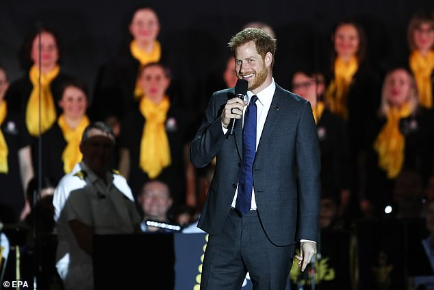 To rapturous cheering the Duke of Sussex yesterday spoke of his pride in his wife and their personal joy at the news she is expecting a baby