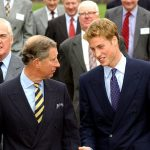William is pictured with his Dad in Scotland 2001 William has total respect for the Queen When she talks he listens