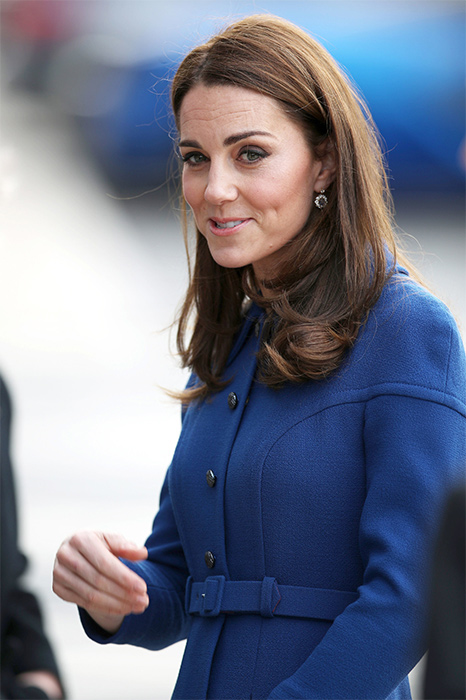 01 Blue Beauty Kate stuns in the coat dress of dreams on visit to Rotherham Photo C GETTY