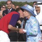 01 The heartwarming times the Queen has received a kiss from members of her family Photo C GETTY