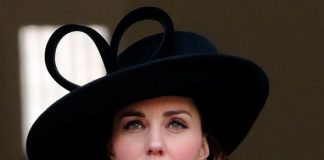 1 Kate pictured at the Remembrance Day service in 2017 Image GETTY