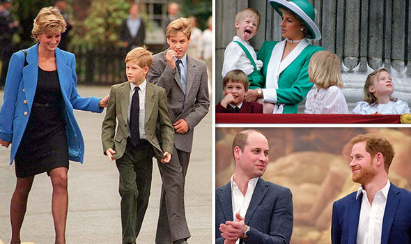 3 Princess Diana Prince William and Prince Harry Image Getty