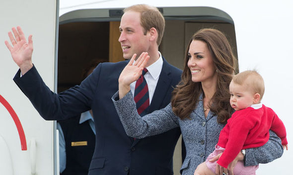 3 The Cambridge family arrive for their Australian tour in 2014 Image Getty