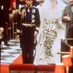 4 Charles wore his full naval commander uniform for the service while a nervous Diana stumbled her words as she said her vows during the vows Image Getty