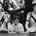 A bored Prince Charles watching the Coronation ceremony of Queen Elizabeth II Image Getty