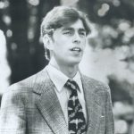 A young Prince Andrew revisits Lakefield College School and headmaster Terry Guest Image Getty