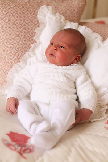 APRIL This adorable photo of Prince Louis was taken on 26 April 2018 just three days after his birth by mum Kate Louis was pictured at home at Kensington Palace Photo C GETTY IMAGES
