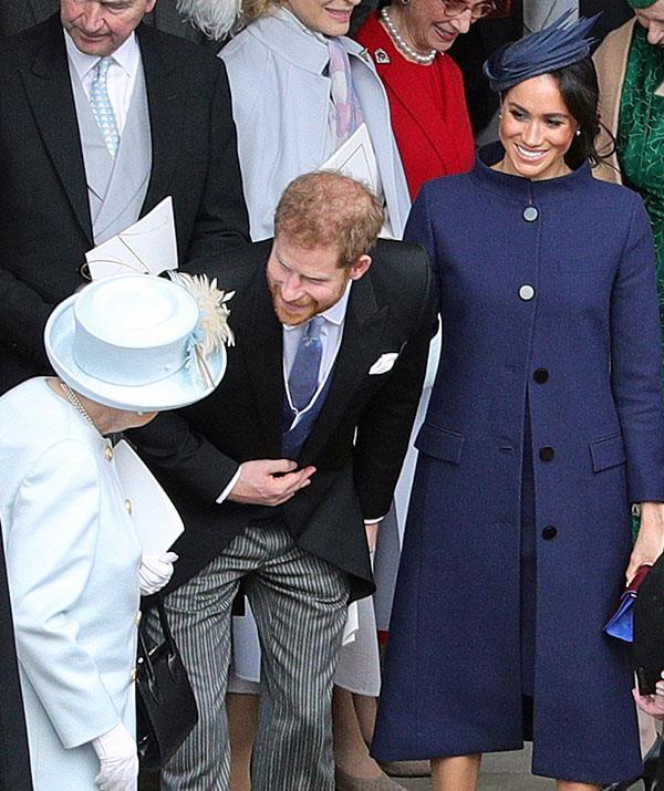 As sixth in line to the throne Prince Harry seen here with Duchess Meghan and The Queen at Princess Eugenies wedding in October Image Getty Images