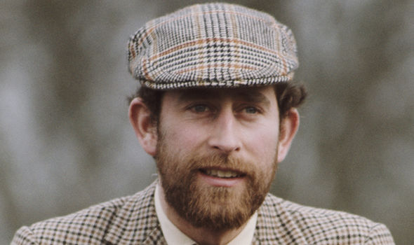 Bearded Prince Charles in his 20s Image GETTY