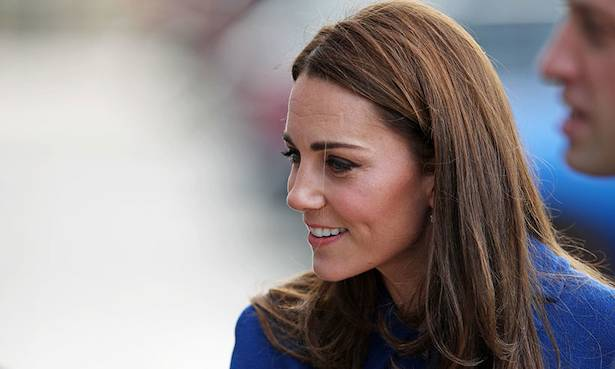 Blue Beauty Kate stuns in the coat dress of dreams on visit to Rotherham Photo C GETTY