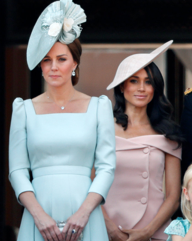 Catherine Duchess of Cambridge and Meghan Markle Photo C GETTY