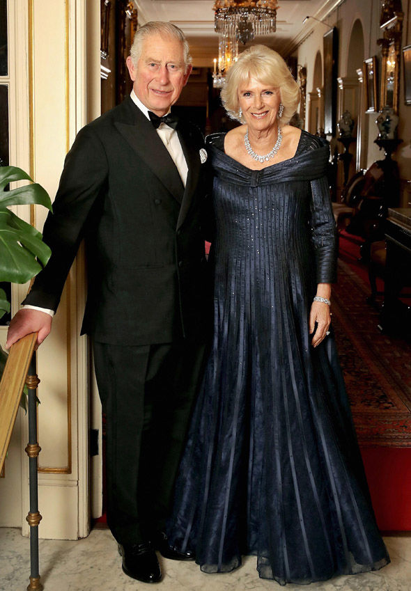 Charles and Camilla at Clarence House their London home before setting off for dinner last night Image Chris Jackson Getty Images