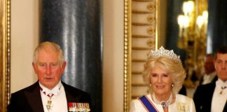 Charles and Camilla pictured last month Image GETTY